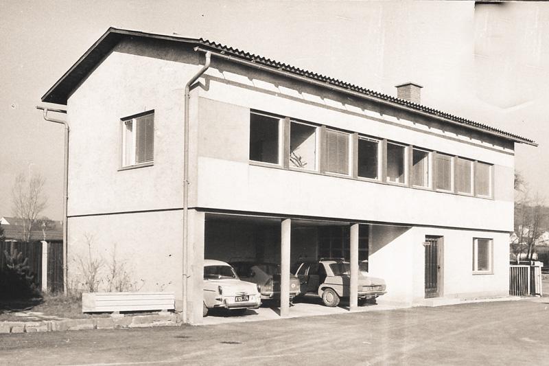 altes Foto vom Bürohaus des Villacher Schleuderbetonwerkes Habernig in Villach