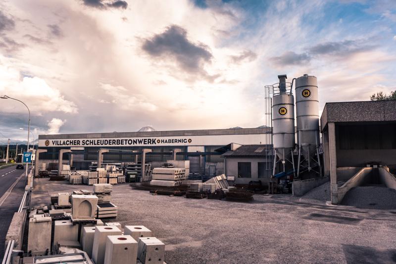 Foto: Firmengelände Villacher Schleuderbetonwerk Habernig