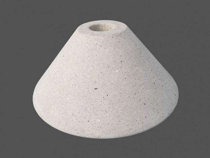 Sockel aus Beton für eine Lampe
