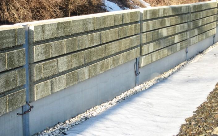 Lärmschutzsockelplatten aus Beton