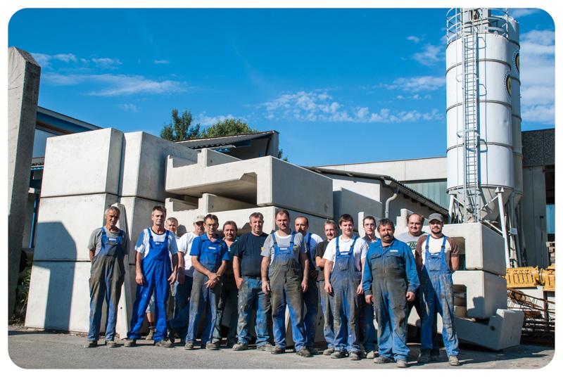 Foto der Mitarbeiter des Villacher Schleuderbetonwerkes Habernig GmbH