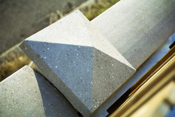 Mauerabdeckung aus Beton
